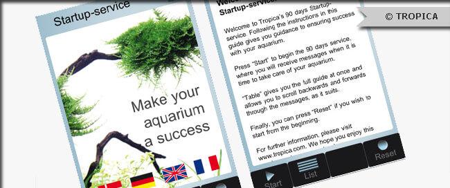TROPICA Startup-service app