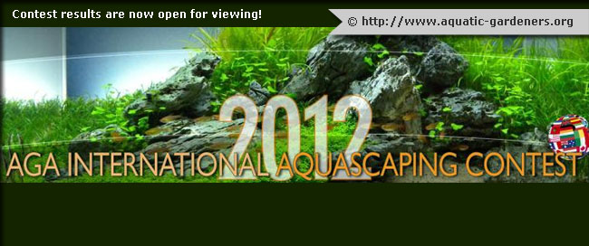 The 2012 AGA International Aquascaping Contest results